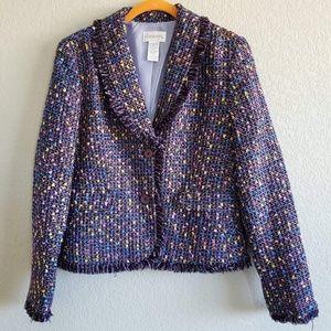 Chadwick's   Metallic Thread Tweed Blazer
